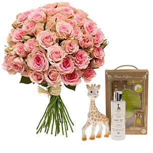 Fleurs et cadeaux Bébé douceur Sophie la girafe