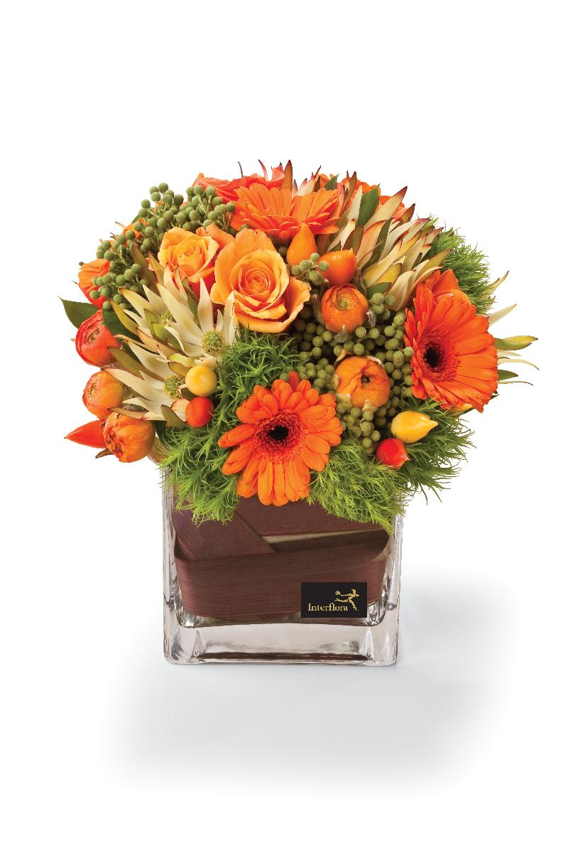 Bouquet de fleurs Clearly Orange
