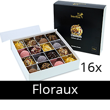 Bouquet de fleurs Chocolats Collection Florale x16